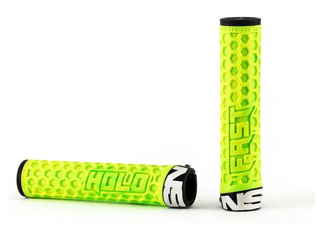 NS Bikes Hold Fast Grips Unlocked lemon lime